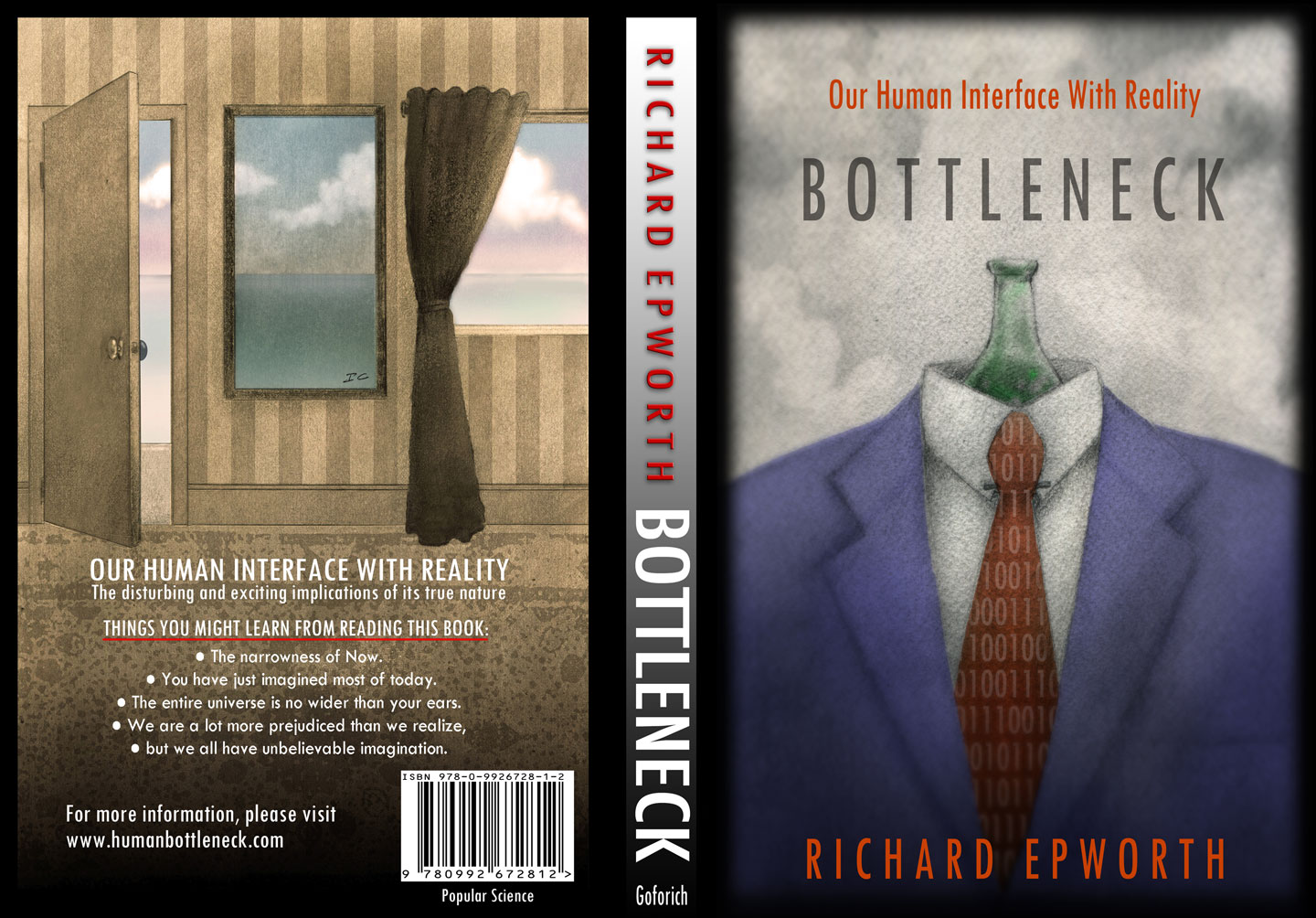 "The Book Cover for ""Bottleneck - Our human interface with reality"""